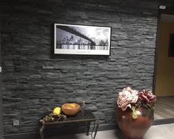 Habillage d'un mur avec les briquettes Beltrami