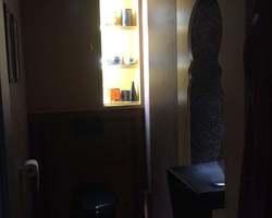 Réalisation d'un wc style marocain,  mortier fin lissé de chez Marius Aurenti, carreaux ciment de chez Bati-Orient,