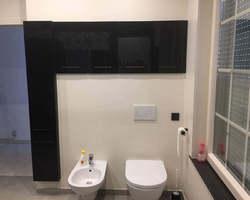 Réalisation d'une salle de bains, mortier fin lissé et carreaux ciment