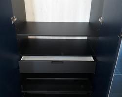 Rangements portes ouvrantes en Fénix blue